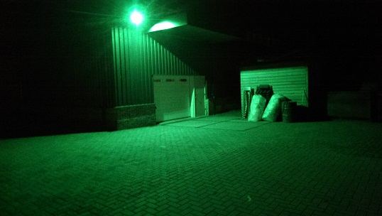 Beveiligingsverlichting LED, met groene LED straatlantaarn armatuur ...